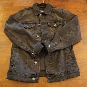 Zara Washed Black Denim Jacket